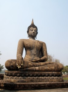 Temple Buddha Statue  in Sukhothai Historical Park,Thailand